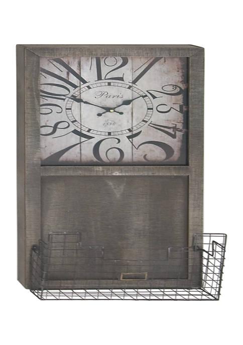 Monroe Lane Fir Industrial Wall Clock