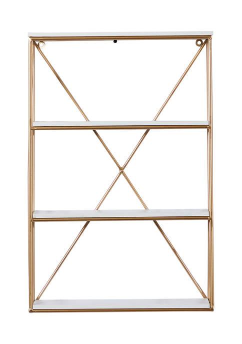 Wood Glam Wall Shelf