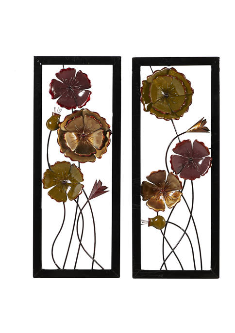 Tin Traditional Wall Décor - Set of 2