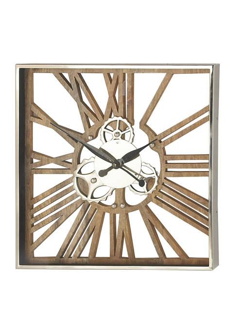 Monroe Lane Mango Wood Wall Clock