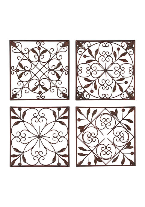 Iron Rustic Wall Décor - Set of 4