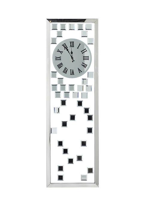 Monroe Lane Glass Glam Wall Clock