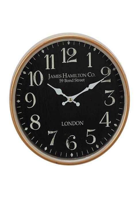Monroe Lane Iron Traditional Wall Clock