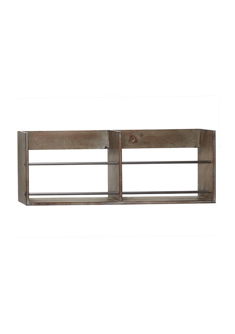 Wood Rustic Wall Shelf