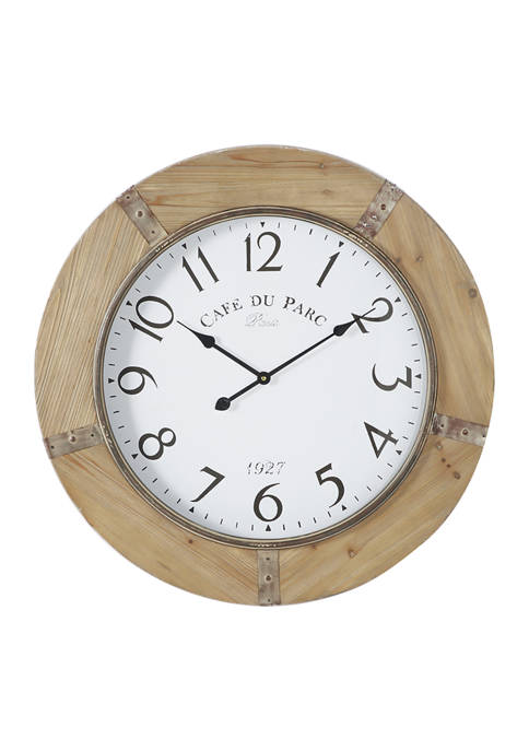 Wood Rustic Wall Clock