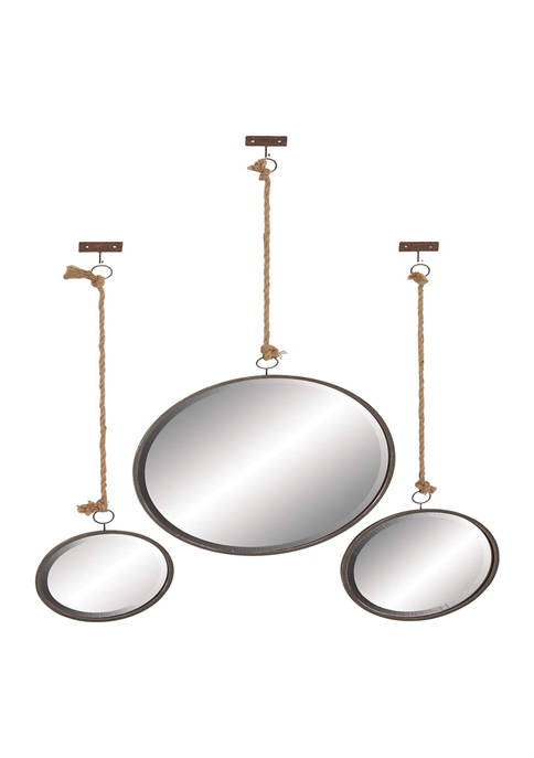 Glass Glam Wall Mirror - Set of 3