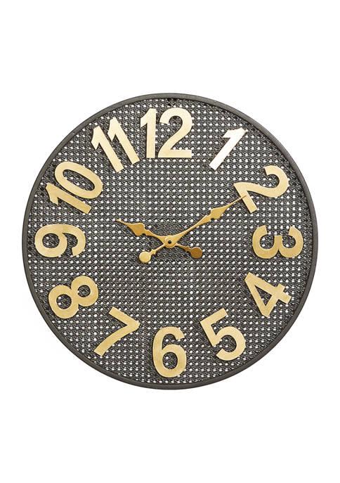 Monroe Lane Iron Industrial Wall Clock