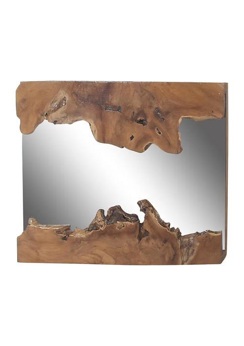 Wood Rustic Wall Mirror