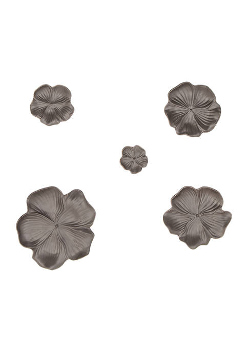 Stoneware Eclectic Wall Décor - Set of 5