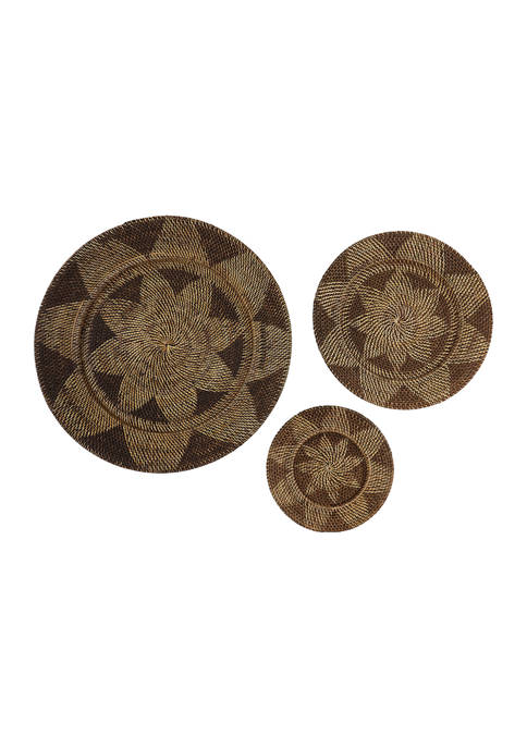 Palm Tree Traditional Wall Décor - Set of 3