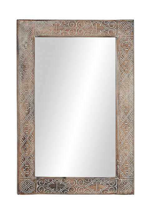 Monroe Lane Albizia Wood Wall Mirror