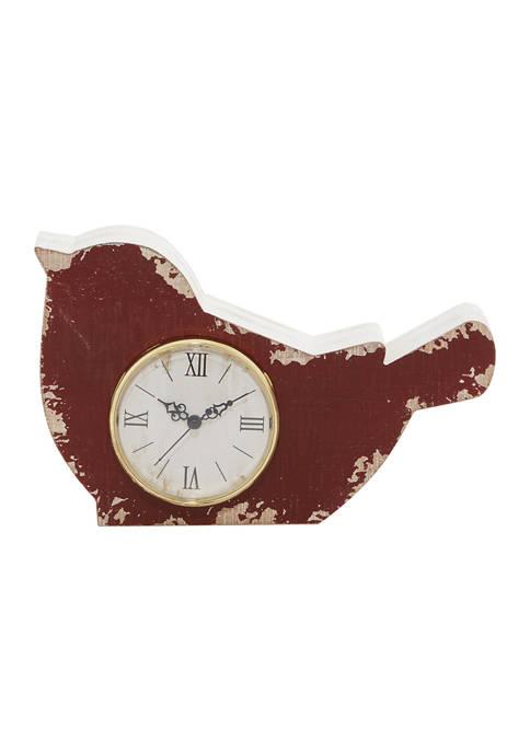 Monroe Lane Red Wood Farmhouse Clock