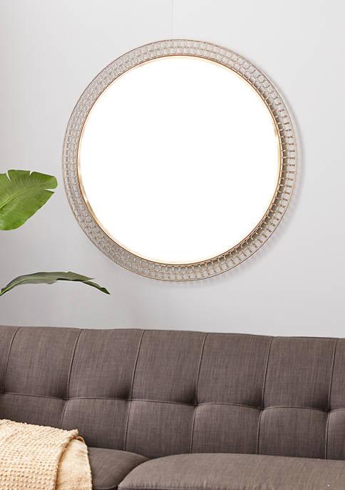 Silver Metal Contemporary Wall Mirror