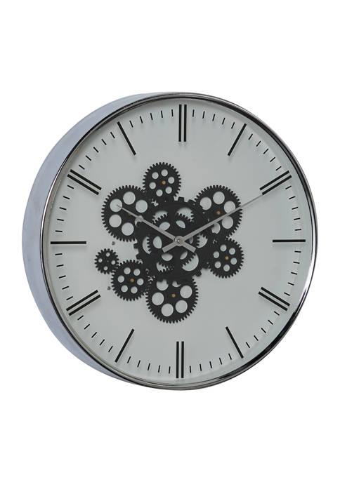 Monroe Lane Metal Contemporary Wall Clock