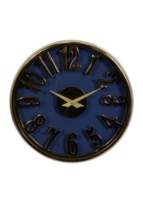 Aluminum Coastal Wall Clock