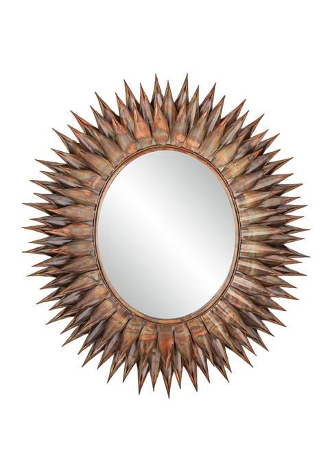 Monroe Lane Iron Rustic Wall Mirror