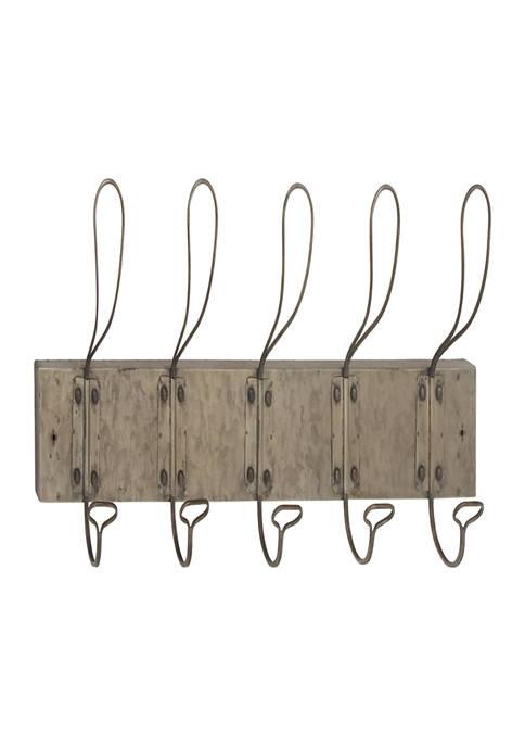 Monroe Lane Iron Vintage Wall Hook Rack