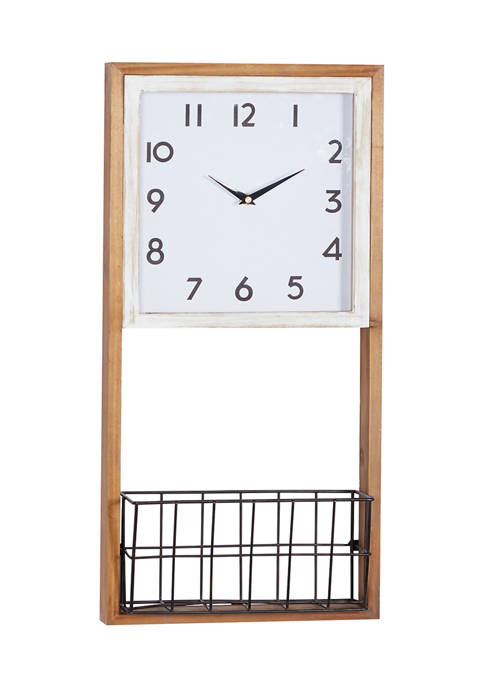 Wood Farmhouse Wall Clock