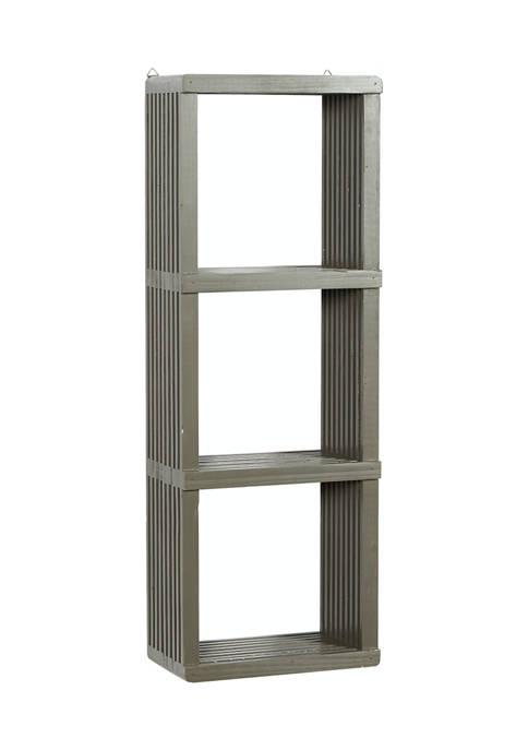 Gray Wood Contemporary Wall Shelf
