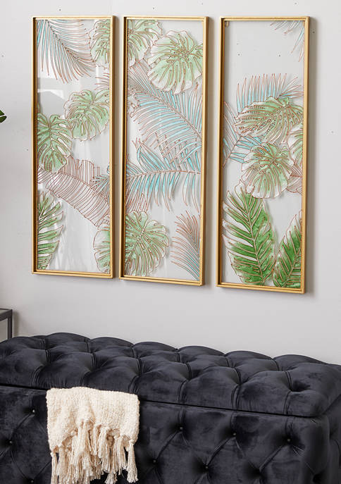 Glass Natural Wall Décor - Set of 3