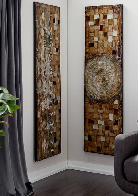 Pine Modern Wall Art - Set of 2