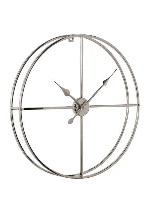 Metal Contemporary Wall Clock