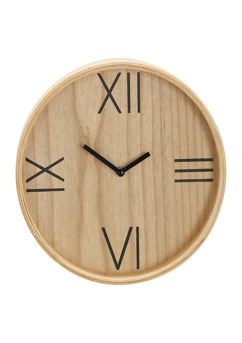 Wood Contemporary Wall Clock