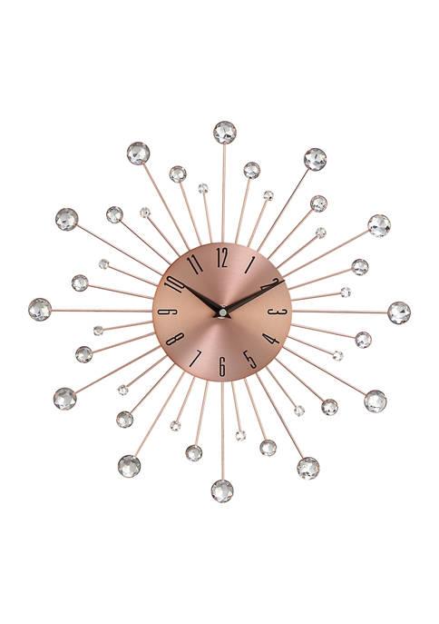 Monroe Lane Iron Glam Wall Clock