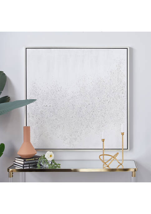 White Canvas Contemporary Wall Art