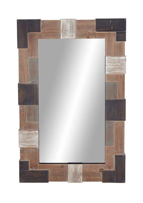 Wood Farmhouse Wall Mirror