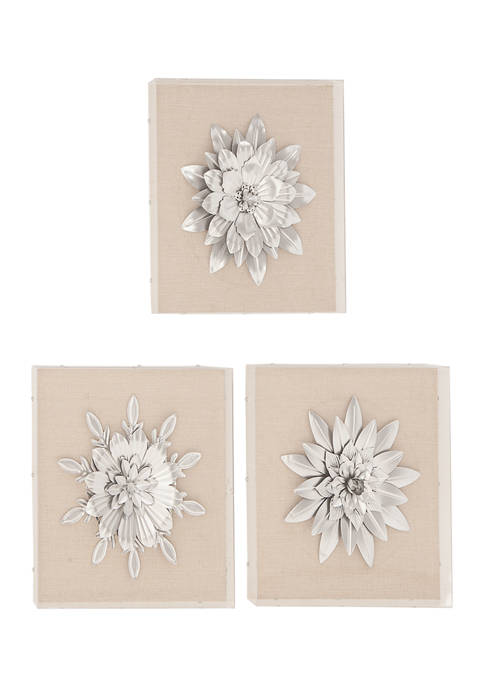 Wood Glam Wall Décor - Set of 3
