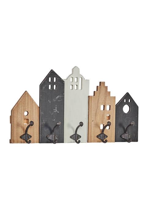 Wood Farmhouse Wall Hook Rack