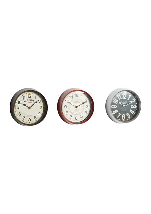 Monroe Lane Iron Traditional Wall Clocks