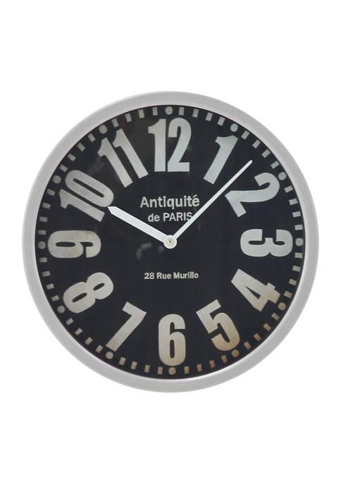 Monroe Lane Iron Wall Clock