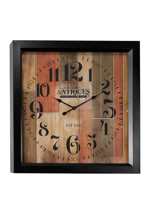 Monroe Lane Fir Wood Wall Clock