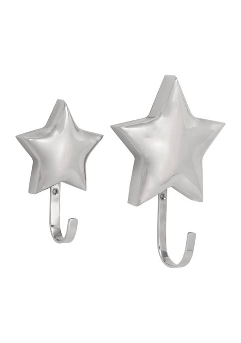 Stainless Steel Glam Wall Hook - Set of 2