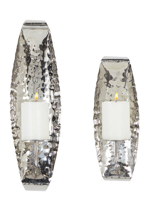 Stainless Steel Contemporary Wall Sconce - Set of 2