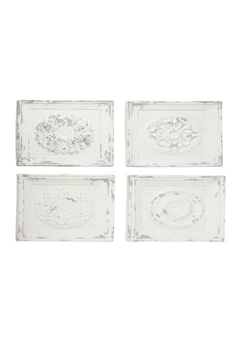 Fiberglass Vintage Wall Décor - Set of 4