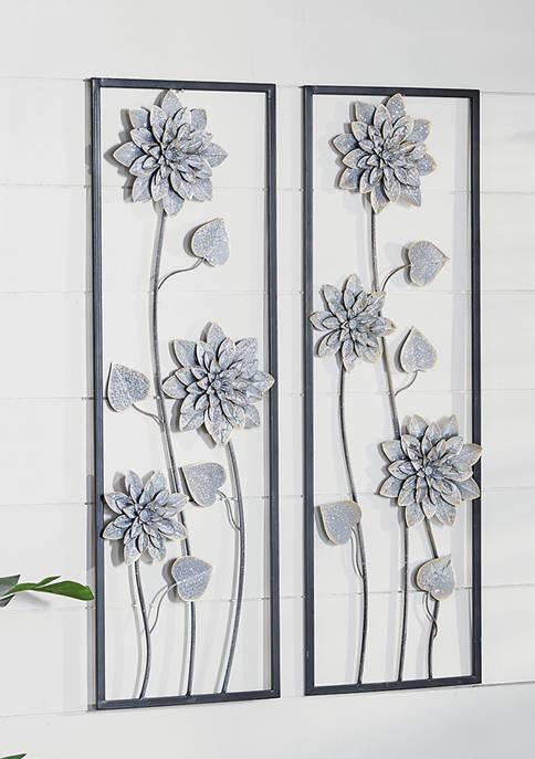 Gray Metal Contemporary Wall Décor - Set of 2