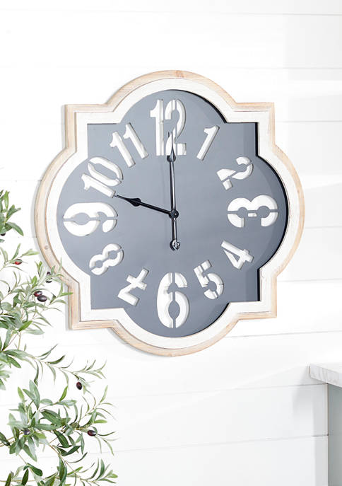 Black Metal Farmhouse Wall Clock