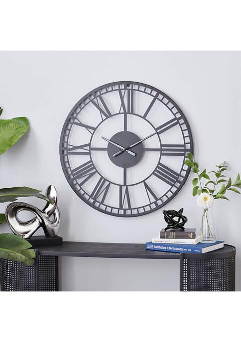Black Metal Contemporary Wall Clock