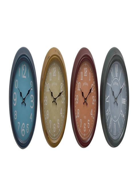 Monroe Lane Iron Vintage Wall Clock