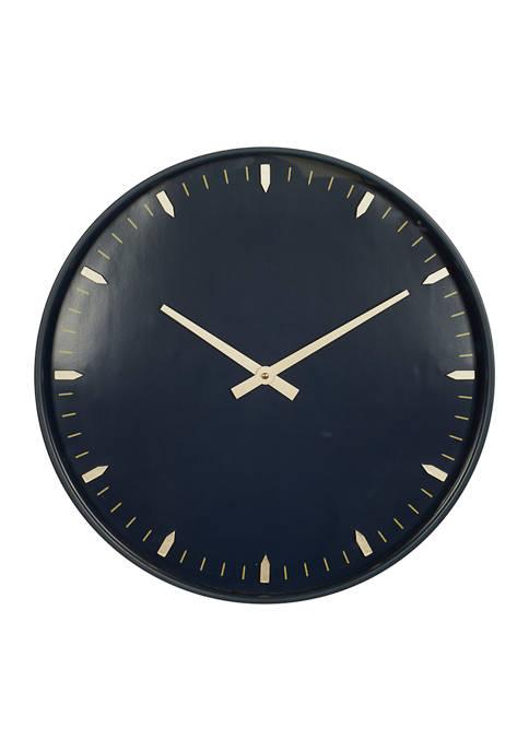 Monroe Lane Glass Contemporary Wall Clock