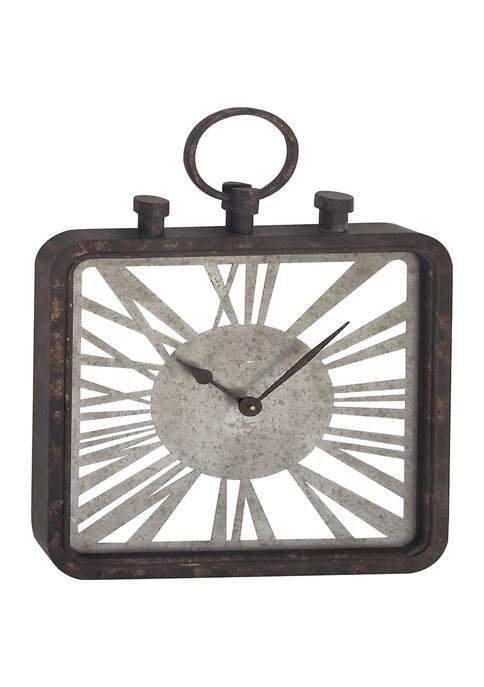 Wood Industrial Wall Clock