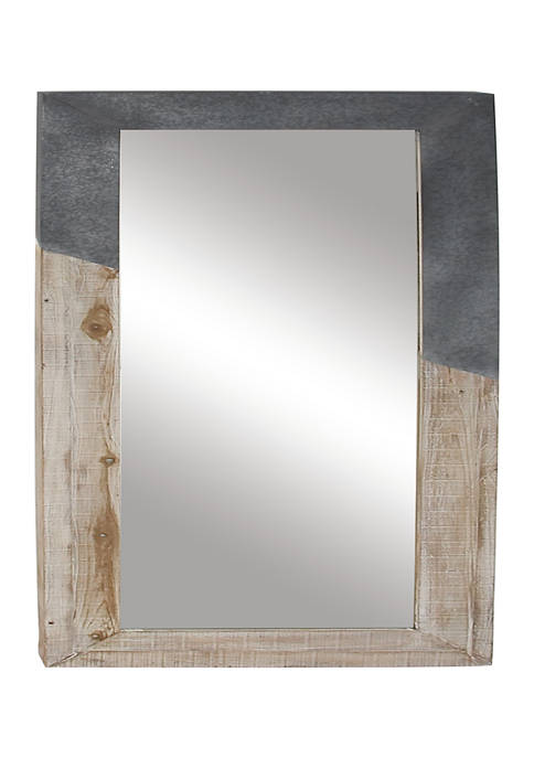 Monroe Lane Fir Farmhouse Wall Mirror