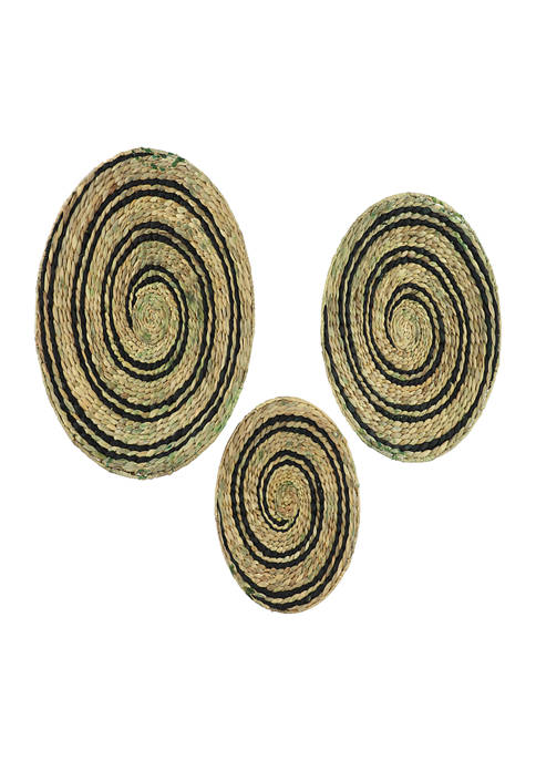 Dried Plant Material Traditional Wall Décor - Set of 3