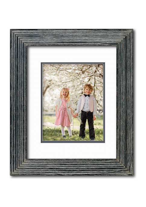 Organics Collection Barn White 11 in x 14 in.-8 in x 10 in Opening Wall Frame