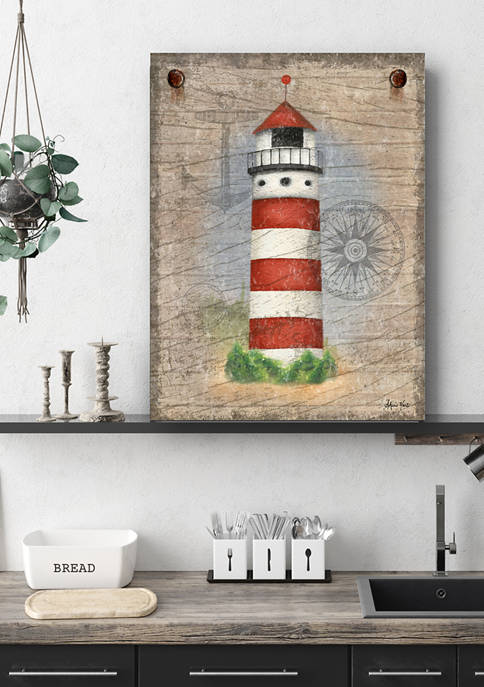 Courtside Market Lighthouse-Red 16 in x 20 in