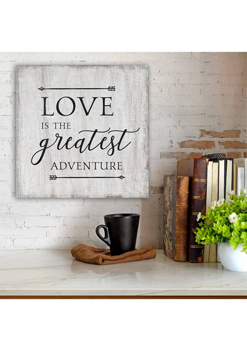 Love Is the Greatest Adventure 16 in x 16 in Canvas Wall Art