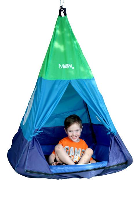 M&M Sales Enterprises Outdoor Teepee Tent Swing